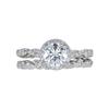 1.10 ct. Round Cut Bridal Set Ring, G, VS1 #3