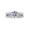 Antique GIA 1.37 ct. Round Cut Bridal Set Tiffany & Co. Ring, H, VVS2 #2