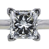 1.99 ct. Princess Cut Solitaire Ring, K, SI2 #4