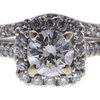 1.0 ct. Round Cut Bridal Set Ring, G, I1 #4