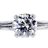 1.01 ct. Round Cut 3 Stone Ring, E, VS2 #4