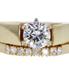 0.93 ct. Round Cut Bridal Set Ring #3