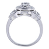 0.47 ct. Round Cut Halo Ring, F-G, VS1-VS2 #3