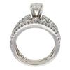 0.6 ct. Round Cut Bridal Set Ring, F-G, SI2 #3