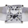 2.5 ct. Princess Cut Solitaire Ring, H, VS2 #1