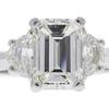 2.01 ct. Emerald Cut 3 Stone Ring, I, VS2 #4
