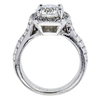2.11 ct. Round Cut Bridal Set Ring, J, SI2 #2