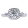 0.79 ct. Round Modified Brilliant Cut Halo Ring, I, SI1 #3