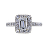 1.00 ct. Emerald Cut Halo Ring, G, SI2 #3