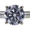 1.06 ct. Round Cut Solitaire Ring, E, I1 #4