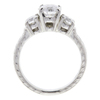 1.04 ct. Round Cut Bridal Set Ring, E, SI1 #4