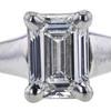 0.90 ct. Emerald Cut Solitaire Ring, E, VVS1 #4