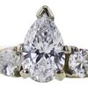 0.95 ct. Pear Cut Bridal Set Ring, G-H, SI1-SI2 #1