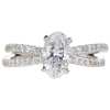 1.18 ct. Oval Cut Solitaire Ring, D, SI1 #3
