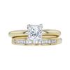 1.08 ct. Princess Cut Bridal Set Ring, I, VVS2 #3