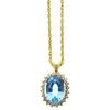 12.82 ct. Oval Cut Pendant Necklace, Blue, SI2 #2