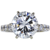6.24 ct. Round Cut Bridal Set Ring, J, SI2 #1