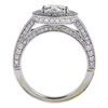 0.92 ct. Round Cut Halo Ring, H, SI1 #3