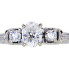 1.02 ct. Oval Cut 3 Stone Ring, H, I1 #3