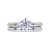 0.75 ct. Round Cut Bridal Set Ring, F, SI1 #3